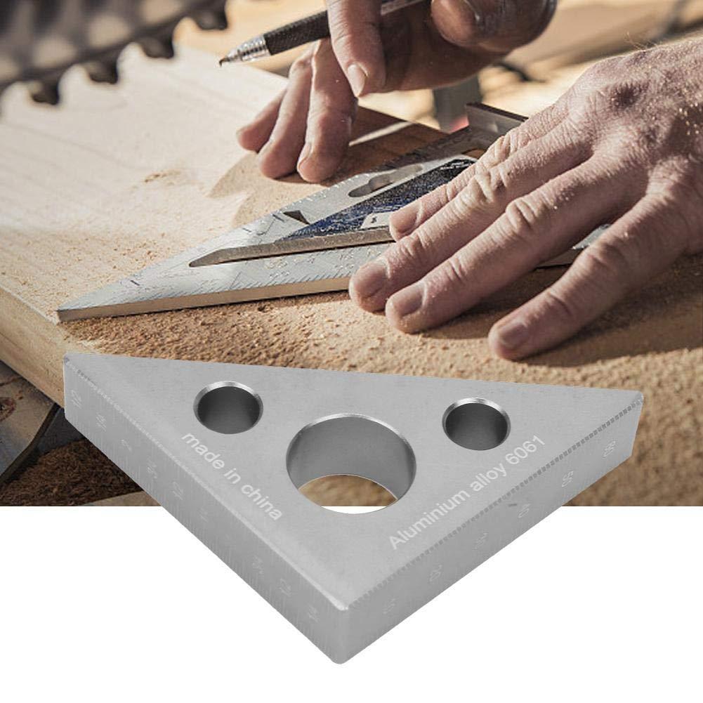 FTVOGUE Aluminiumlegierung Holzbearbeitung Dreieck Lineal Rechtwinklig Lineal Wertvolle Tischler Messwerkzeuge Werkzeuge