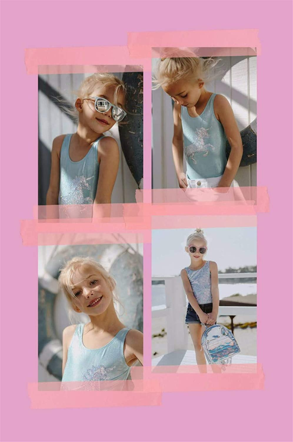Rngtaqubeic Swimwear for Girls one Piece Children Swimsuits Kids Bathing Suit 3-8 Years