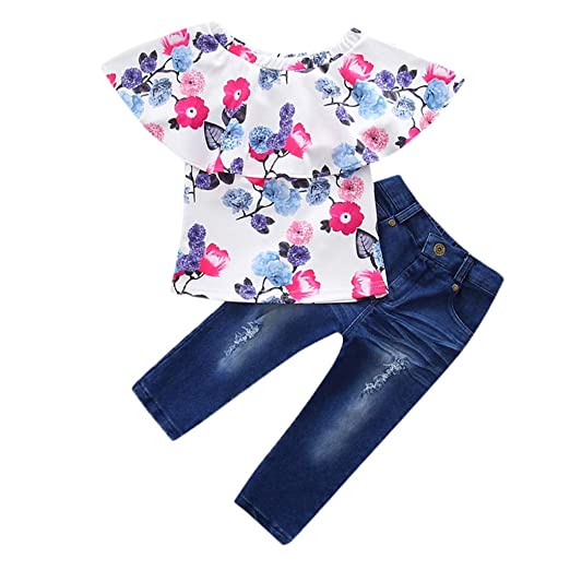 baefb6424 Amazon.com  Little Kids Toddler Baby Girls 2Pcs Outfits Clothes ...