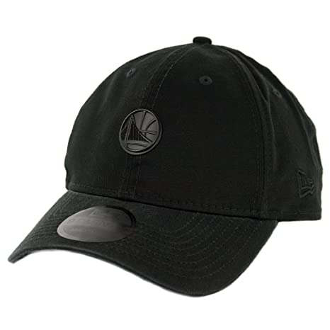 8b82a12f45c Image Unavailable. Image not available for. Color  New Era 920 Golden State  Warriors Micro Matte Strapback Hat (Black) ...