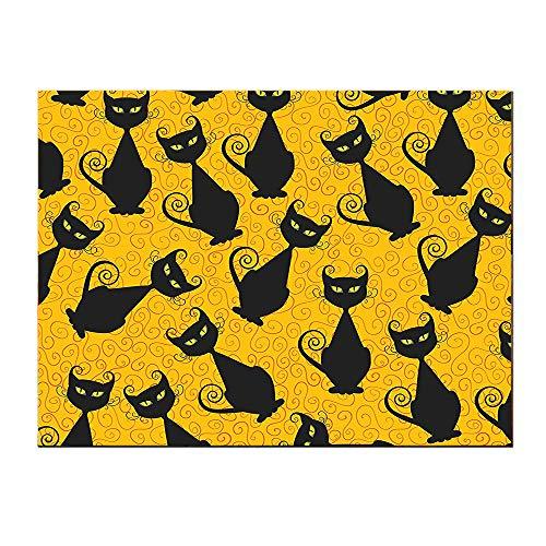 SATVSHOP Hanging painting-24Lx24W-Vintage Black Cat Pattern for Halloween
