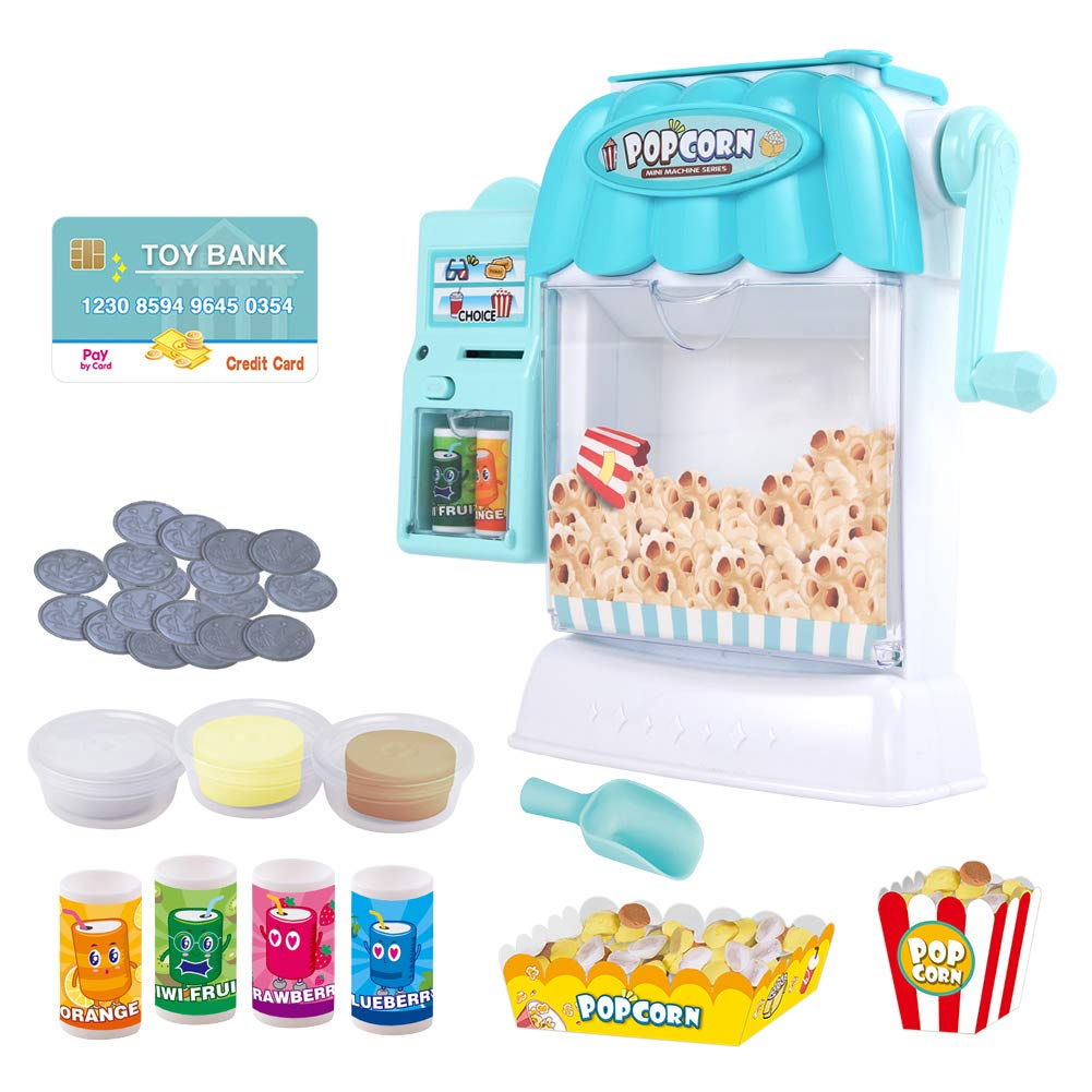 Ainek Toy Popcorn Maker -Children Pretend Play Toys, Early Learning Toys for Preschool Toddlers Baby Kids of 3 4 5 6 Years
