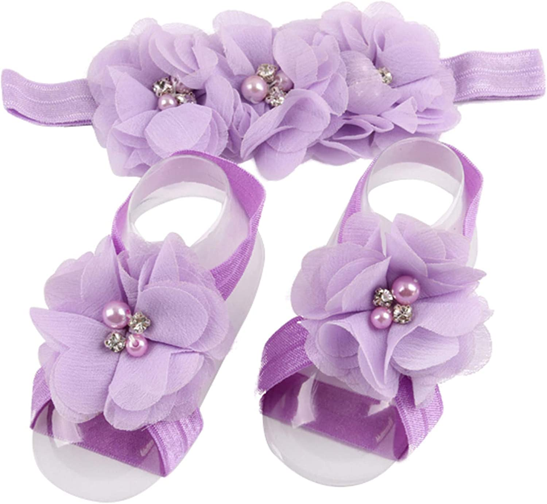LD DRESS Baby Girl Foot Flower Headband