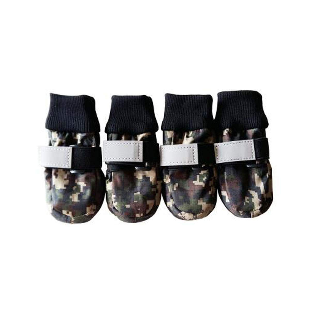 Multi-colord XXL Multi-colord XXL Dog shoes, Dog Rain Boots, Large Dog Waterproof Non-Slip shoes, Dog Outdoor Walking shoes, Pet Supplies, bluee, Variegated (S-XXL) (color   Multi-colord, Size   XXL)