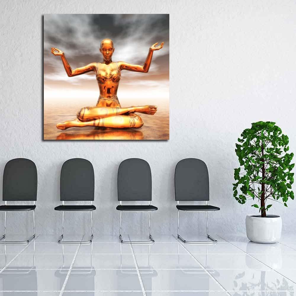 Pitaara Box Meditating Female Unframed Canvas Painting 40 x x 40 40inch 288c5d