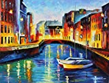 SAINT PETERSBURG is an Original Oil Painting on Canvas by Leonid Afremov. Image: 30 x 40. Gallery Retail is $6,500. The artwork is in perfect condition. It is an Original artwork. It is NOT a gicl'e or recreation of the original - Again, it is the OR...