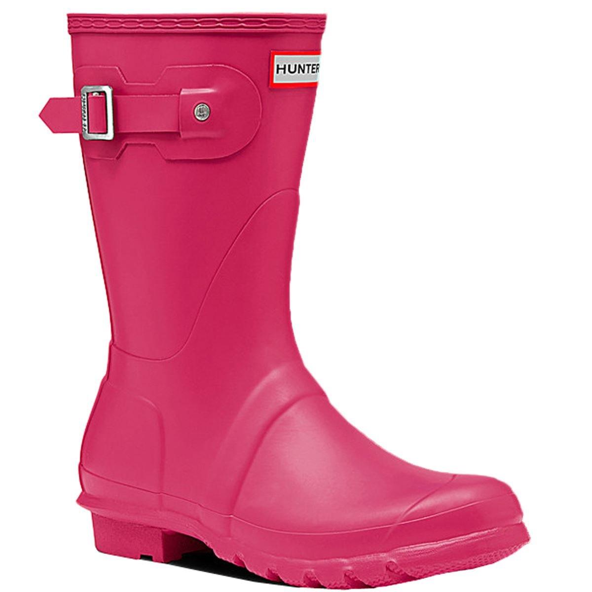 Hunter Women's Original Short Rain Boots Bright Pink 6 M US