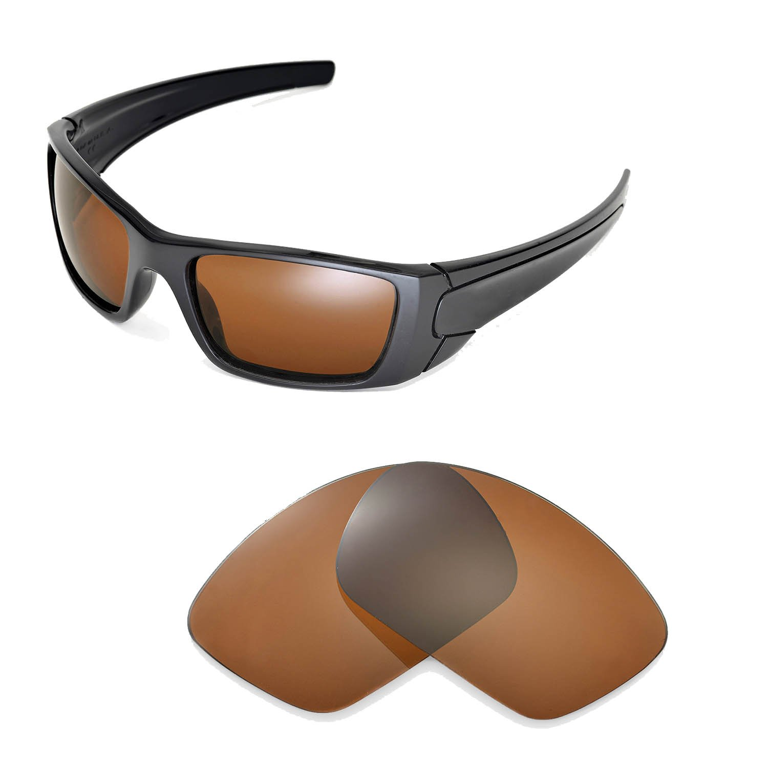 63dee8a7b9 Walleva Replacement Lenses for Oakley Fuel Cell Sunglasses-Multiple Options  (Brown - Polarized)