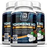 BRI Nutrition Yohimbine HCI - 90 Count 2.5mg Yohimbie Capsules, 3-Pack