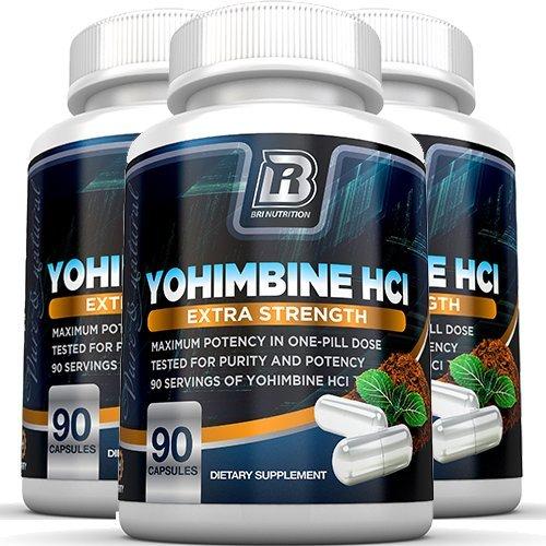 BRI Nutrition Yohimbine HCI - 90 Count 2.5mg Yohimbie Capsules, 3-Pack by BRI Nutrition