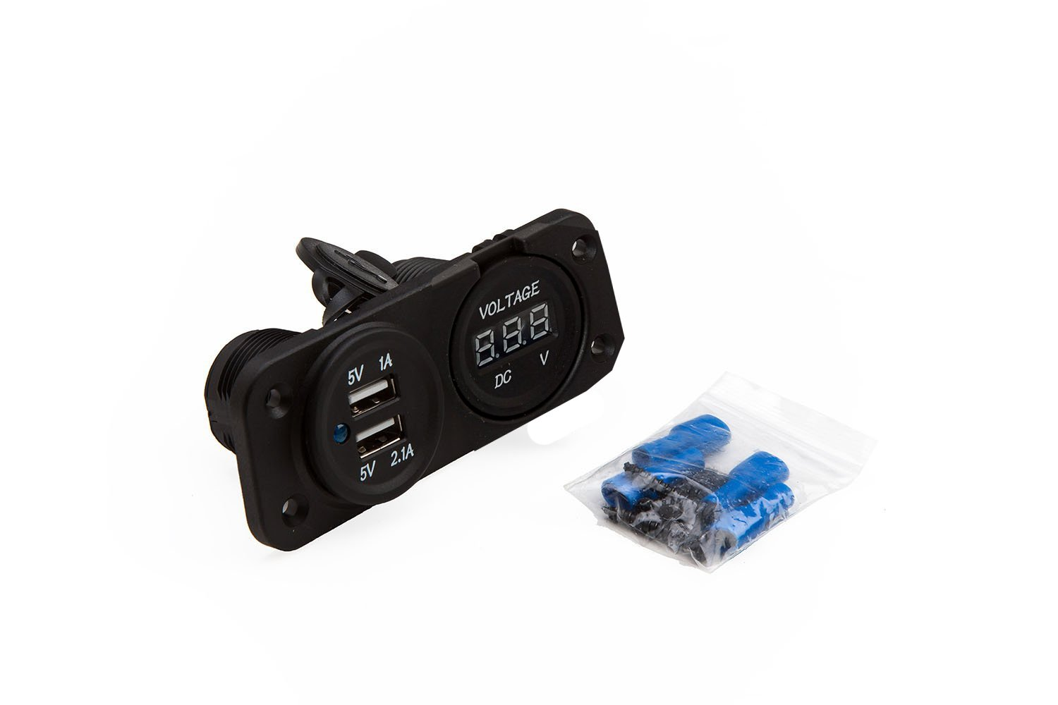 61hl3wqMEqL._SL1500_ amazon com panel dual usb socket and voltmeter for boat rv  at fashall.co