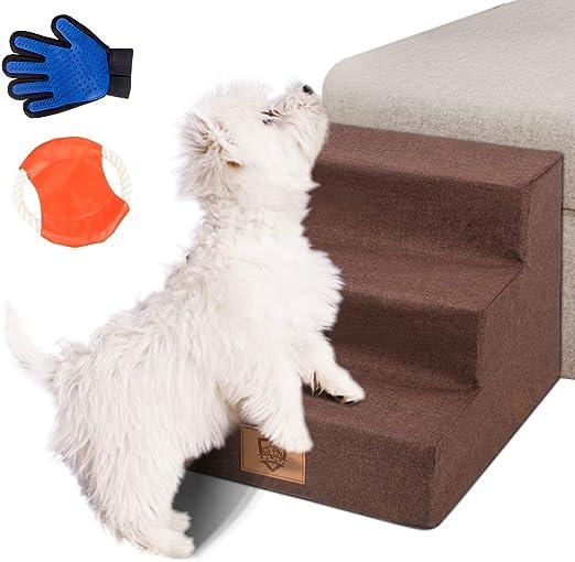Masthome Escaleras para Perros,Rampa para Perros,Escalera de Cama de 3 Pasos para Pequeño Animales Cachorro,hasta 50 Libras: Amazon.es: Productos para mascotas