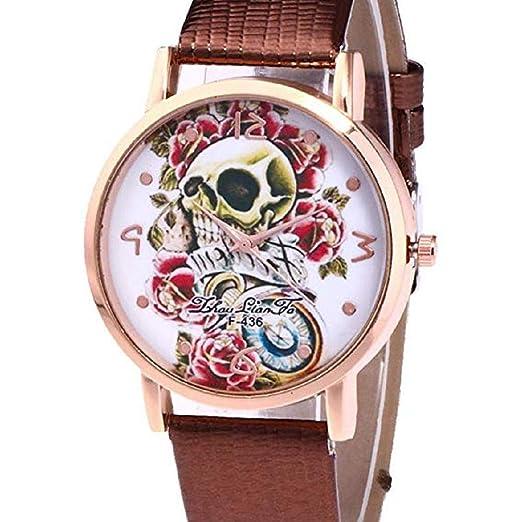 Relojes de Calavera para Mujer Relojes para Mujer Relojes de Pulsera únicos de