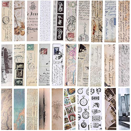 SATINIOR 60 Pieces Vintage Style Bookmarks Retro Cardboard Bookmarks for Students Office (Style Set 2)