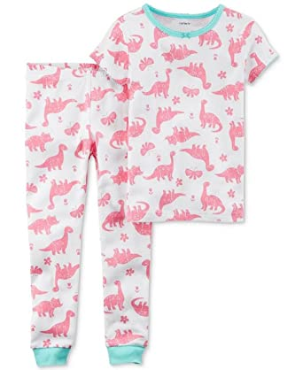 a7d4aa24b2f8 Amazon.com  Girl s Prehistoric Dinosaur Pink Dino Print Cotton ...