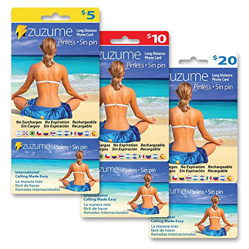 Zuzume Prepaid Phone Calling Cards for Cheap International Long Distance Calls