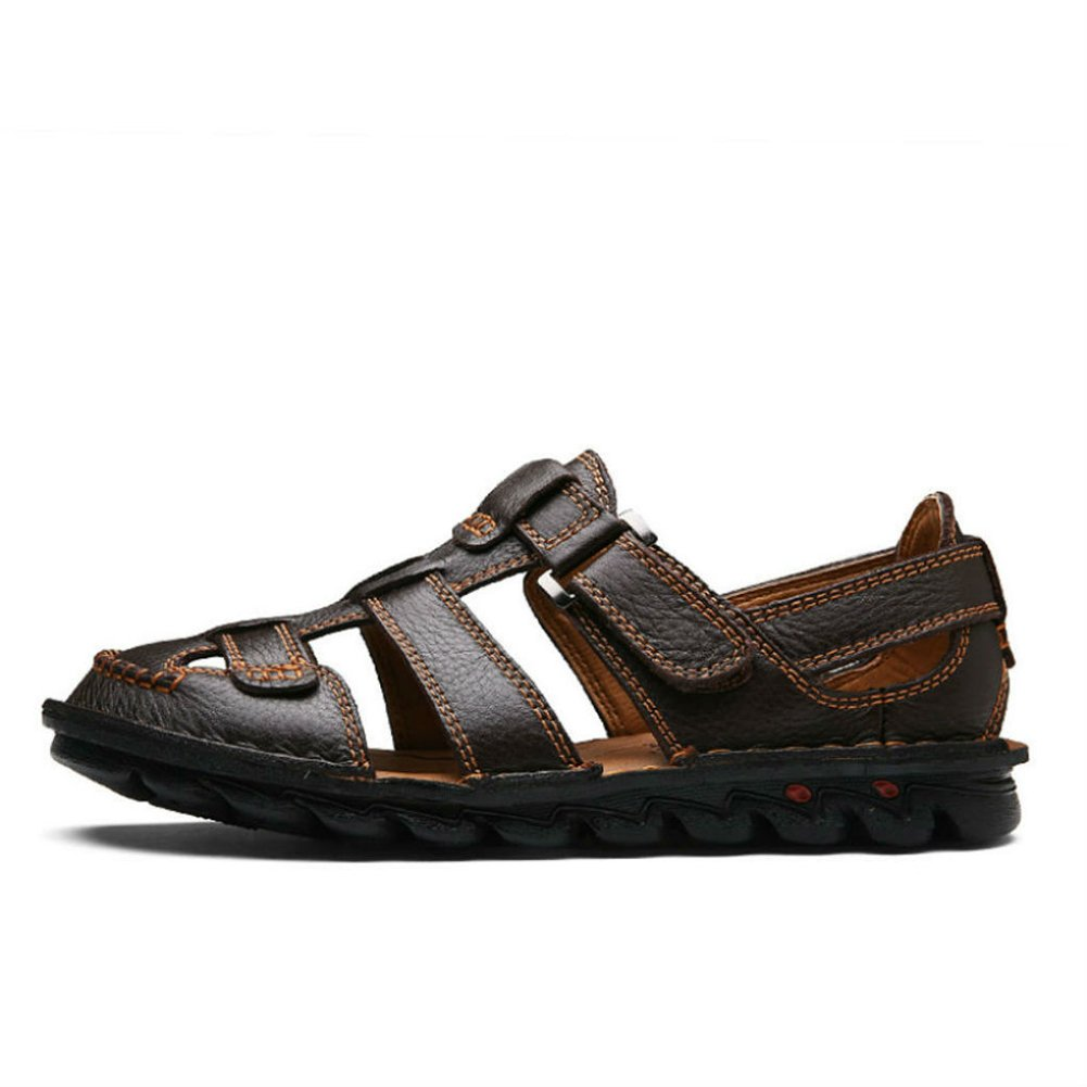 Yaer Hombres Sandalias de Cuero Zapatos de Playa para los Hombres Zapatos Tamaño EU38-EU48(2 Color): Amazon.es: Zapatos y complementos