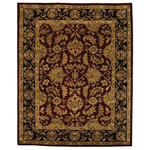 Safavieh Handmade Heritage Kashan Burgundy/ Black Rectangular Wool Rug (7'6 x 9'6)