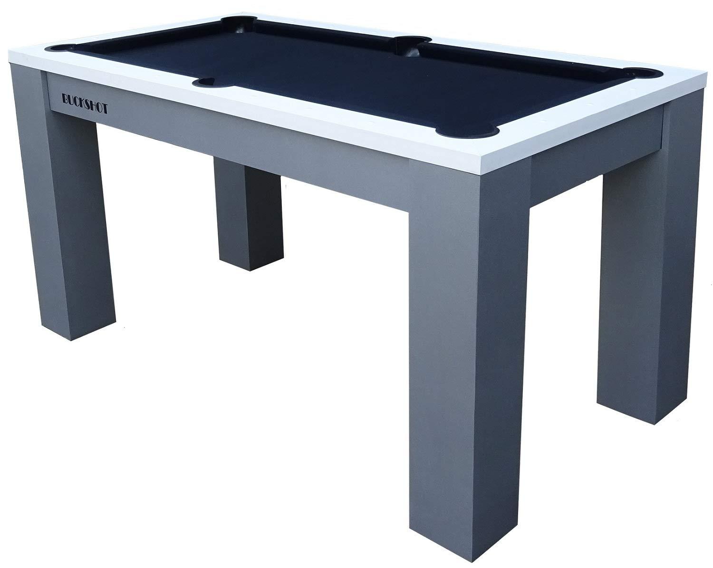 BuckShot Billardtisch 5ft 5 Fu/ß Pool Billard Tischbillard mit Zubeh/ör 60KG Schwarz//Blau 183x90x79cm Oxford