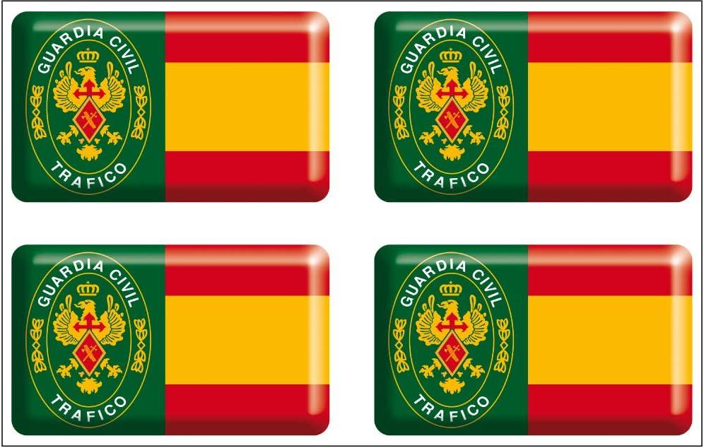 Artimagen Pegatina rectángulos Bandera con Logo Guardia Civil ...