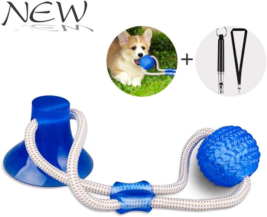 JHTOPJH Suction Cups Dog Toy Double Suction Cups Tug Toy for Dogs Ball Dog Rope Toy Dog Teeth Cleaning Dog Chew Toy