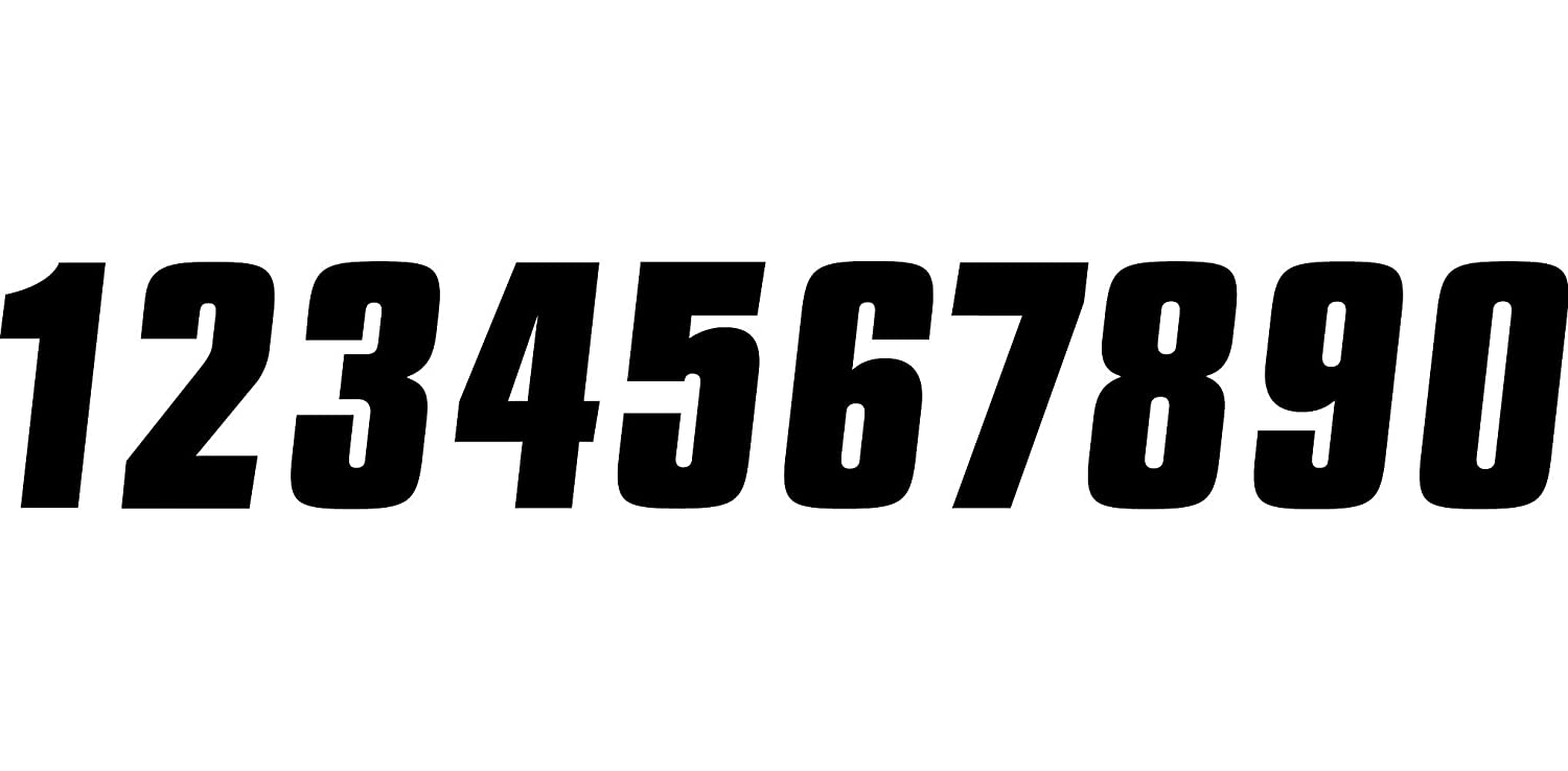 Factory Effex 02-4488 White 8 Standard Number Graphic