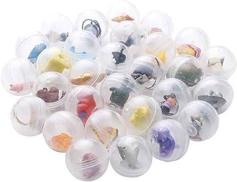 24 cápsulas transparentes tipo huevos sorpresa llenas de juguetes ...