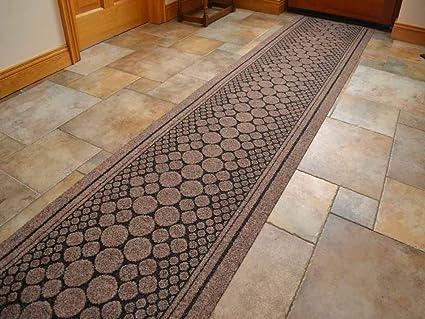 "SrS Rugs Brown Cork Industrial Heavy Duty Hallway Runner Mat Carpet Anti Slip ***MADE TO MEASURE*** QUANTITY = FOOT - 2ft 2"" (66cm) Width: Amazon.co.uk: ..."