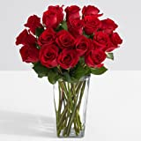 ProFlowers - 18 Count Red 18 Red Roses w/Free Clear Vase - Flowers