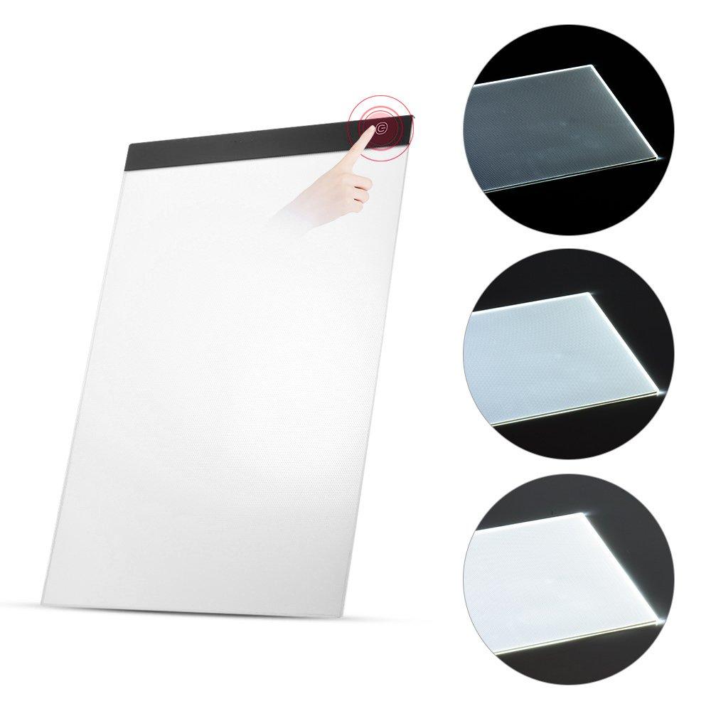 New-Hi A4 LED Digital Tablet Artist Thin Art Stencil Drawing Board Light Box Pad with USB cable