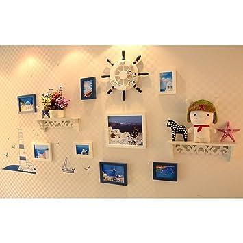 DONG Foto Wand Fotorahmen Collage Foto Wand Bilderrahmen Kombination Wände  Fotowände Wohnzimmer Dekorationen Hängerahmen Wandspeicher Mit