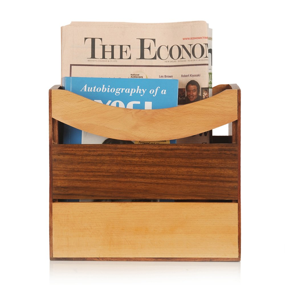Elegant Magazine Holder ExclusiveLane Elegant Magazine Holder Cum Newspaper Stand In 3