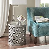 Arian Quatrefoil Mirror Accent Table Silver See Below