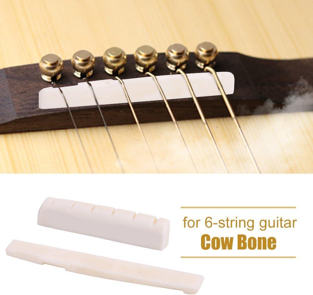 Alomejor Accessoire de remplacement pour reparation de selles de guitare basse avec ecrou superieur de guitare osseuse