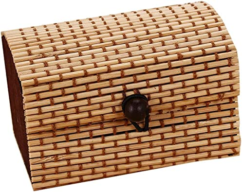 FIONAT Organizadores Y Cajas para Joyas Caja De Almacenamiento De Anillas De Bambú Creativo para La Caja De Las Damas De Gran Capacidad con Forma De Anillo, Marrón: Amazon.es: Joyería