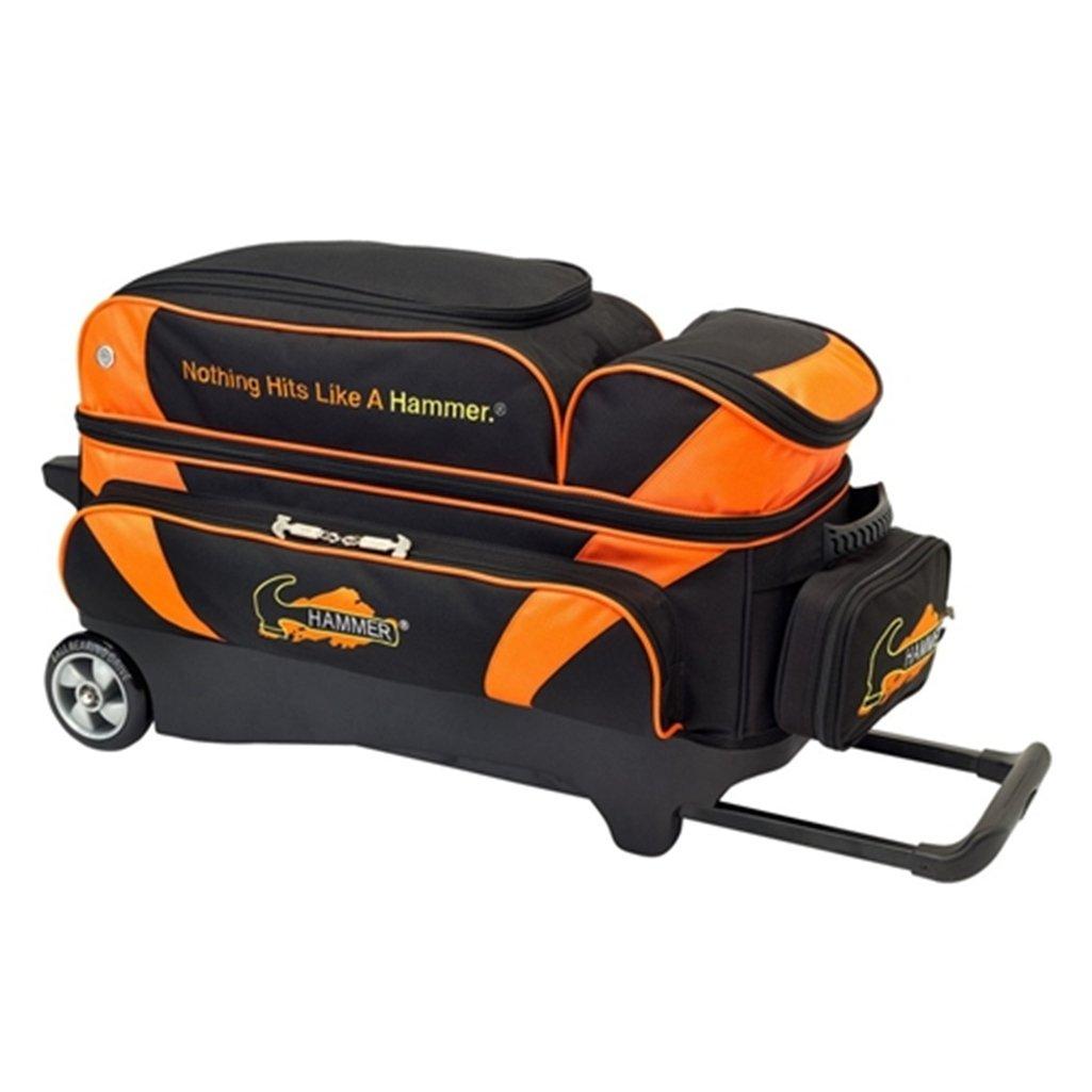 Hammer Premium 3 Ball Roller Bowling Bag- Black/Orange ()
