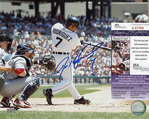 Ivan Rodriguez Autographed Photo - 8x10 S47986 - JSA Certified - Autographed MLB Photos - Ivan Rodriguez Autographed Photo