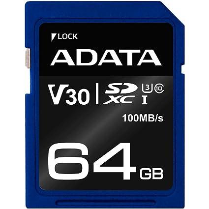 ADATA ASDX64GUI3V30S-R Memoria Flash 64 GB SDXC Clase 10 UHS-I ...
