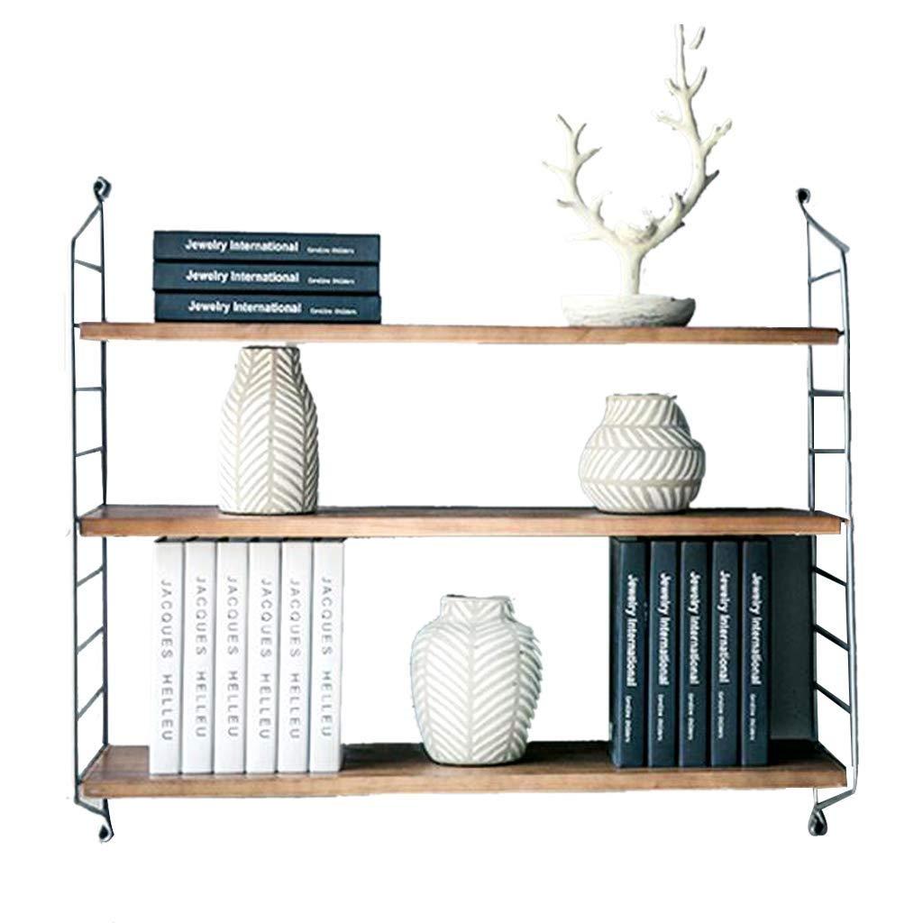 60x26x75cm C-K-P Shelf Three-Tier Personality Wall Storage Shelf Wood Wall Word Wall Shelf (Size   60x26x75cm)