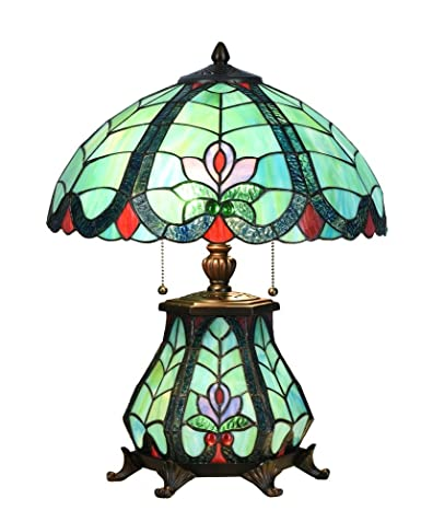 Niloah Nh16101 Tiffany Style Table Lamp 16 Inch Shade With Lighted