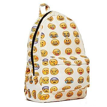 DAYAN Emoji Bolsos Lienzo Viaje Colegio Mochila Mochilas Escolares Mochilas: Amazon.es: Equipaje