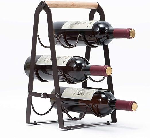 Edelstahl Weinflaschenregal Wein Regal Ständer Halter 8 Flaschen Ständer Neu