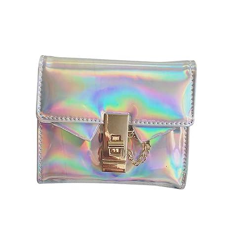 BESTOYARD Bolso holográfico de la manera Cartera Holograma ...
