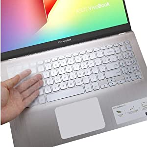 CaseBuy Keyboard Cover for ASUS VivoBook S512 S530FA S530UA / ASUS VivoBook F512DA F512FA F512JA X512DA X512FA / ASUS VivoBook S17 S712 S712FA, ASUS VivoBook 15.6 Accessories, Clear