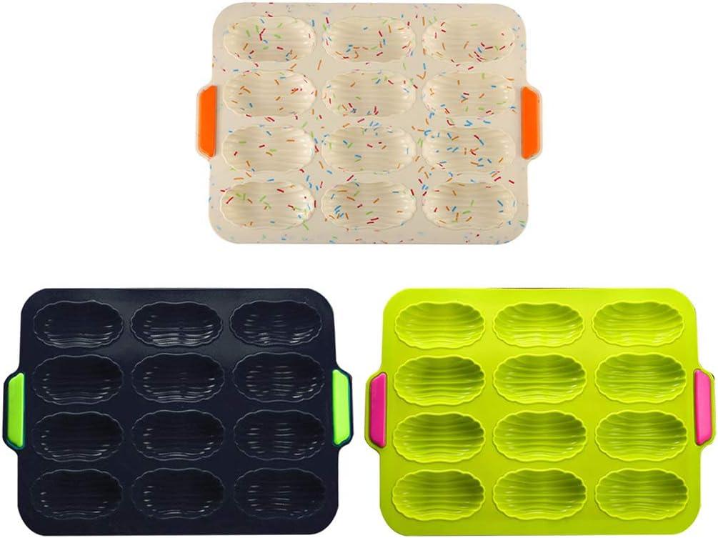 12 cavit/à Stampo per Pane in Silicone Stampo per Muffin//Panini//Baguette 3D Decorazione per Torte Stampi per bakeware Verde JERKKY /Stampo per Pane