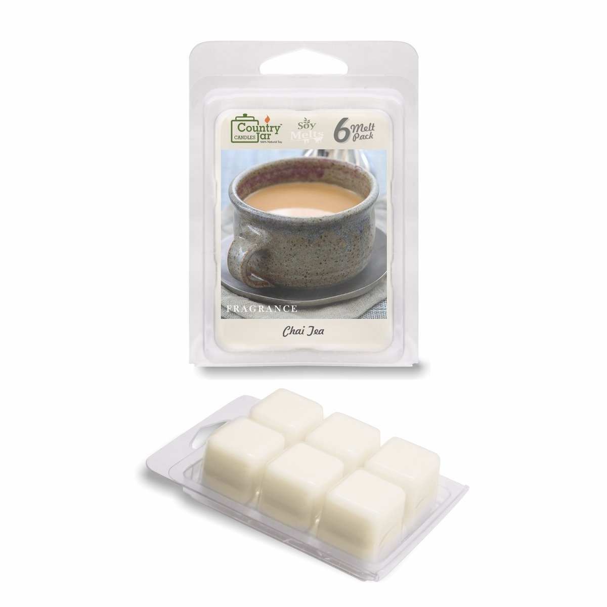 Country Jar CHAI Tea Soy Wax Melt Tarts (6-Cubes) 2.75 oz. [+] Special! 3 for $17.50! 4 for $21.65 (Mix OR Match) MDL-SM033