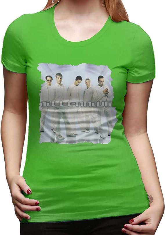 Camiseta básica de Manga Corta de algodón para Mujer, con Logo del Milenio, Color Verde, para Verano, casa, Simple, para Hacer Ejercicio, de Manga Corta. Negro Verde S: Amazon.es: Ropa y accesorios