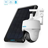 Reolink Argus PT w/Solar Panel - Wireless Pan Tilt Solar Powered WiFi Security Camera System w/Rechargeable Battery…