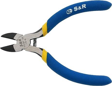 Elektronik Seitenschneider Side cutter Zange Watenfrei Kabel Mikro Schere Gelb