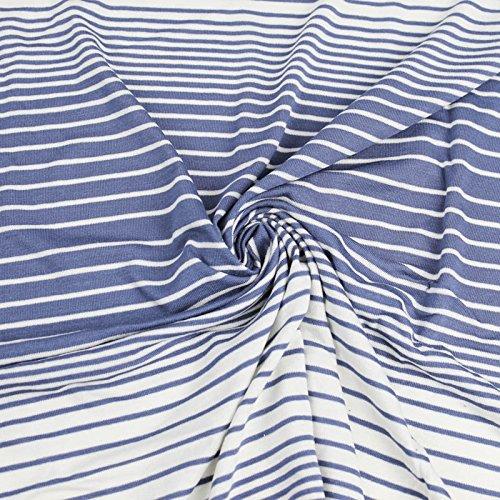 White Stretch Denim Fabric - 9